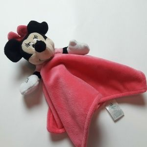 Disney Baby Minnie Mouse Pink Lovey Blanket SOFT